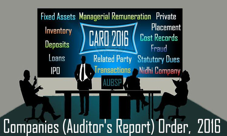 Complete Notes on Companies (Auditor's Report) Order, 2016