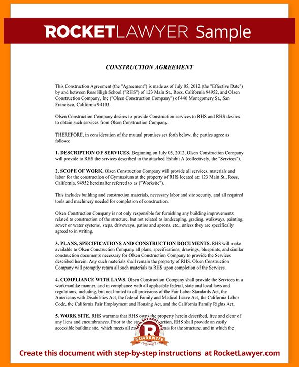 7+ construction contract template   Card Authorization 2017