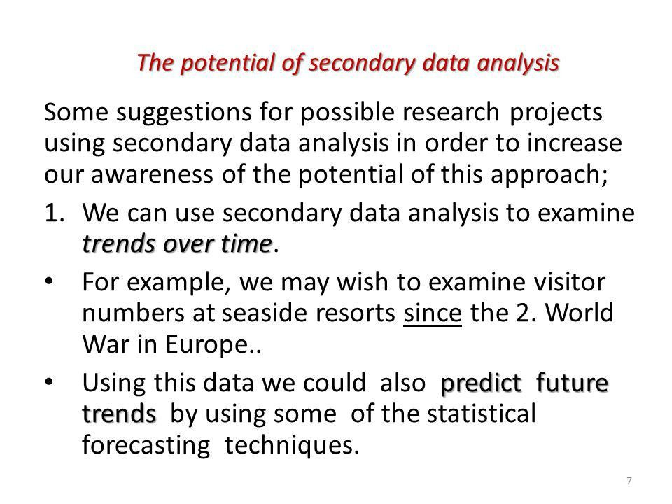 Secondary Data Analysis in Leisure and Tourism Research - ppt ...