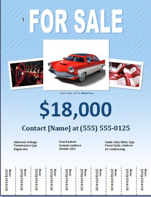 Free Car for Sale Flyer Templates - Free Online Flyers