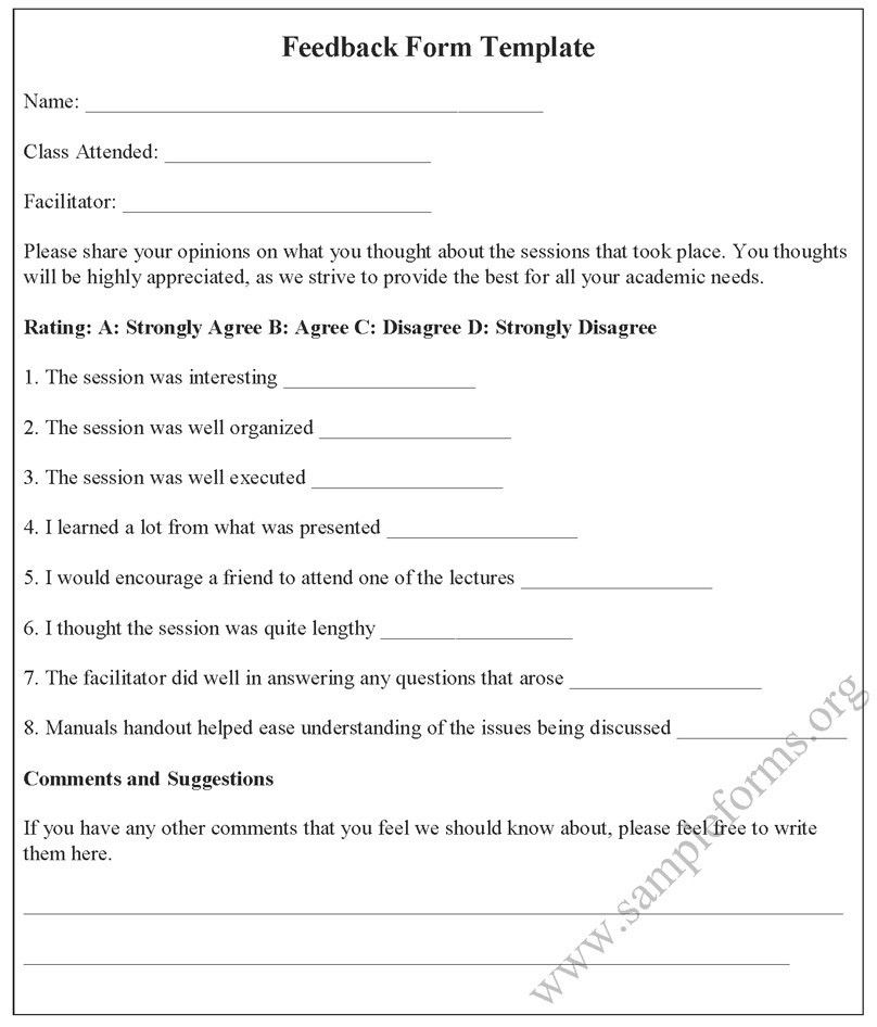 Feedback Form Template | For various feedback form templates… | Flickr