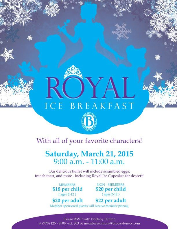 Royal Ice Princess Party flyer poster template | Princess Party ...