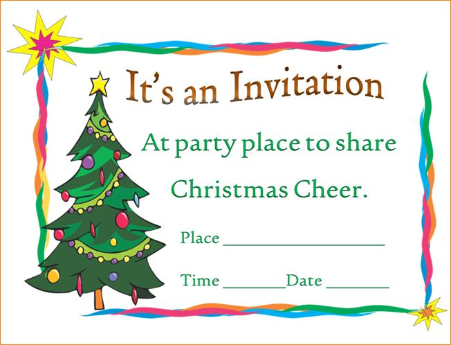 4+ christmas party invitation template | Outline Templates
