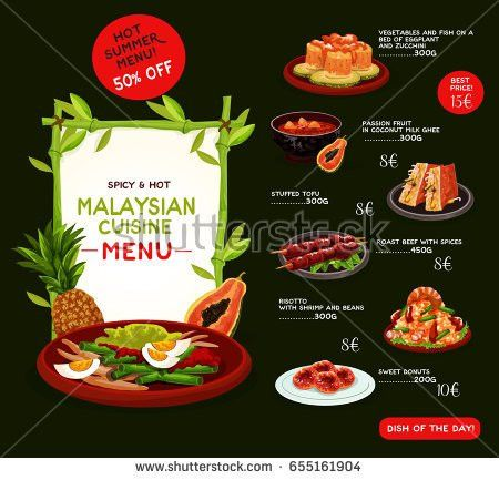 Japanese Cuisine Restaurant Menu Template Vector Stock Vector ...