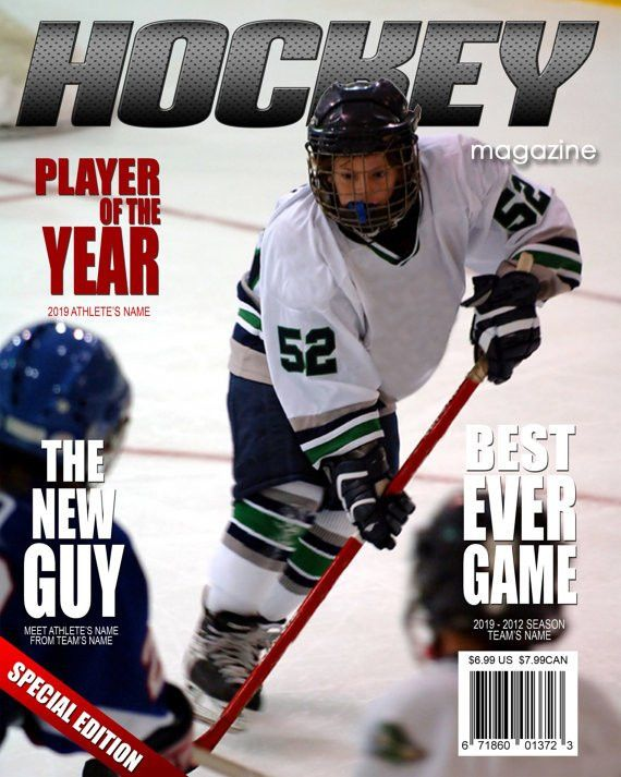 Hockey Magazine Cover Template