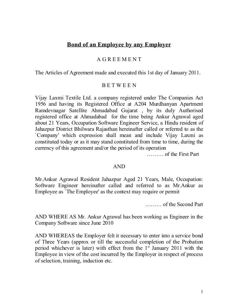 Contract Employee Agreement. Fixed Term Employment Contract ...