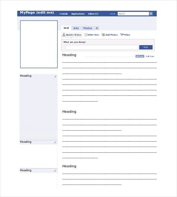 Blank Facebook Template – 11+ Free Word, PPT & PSD Documents ...