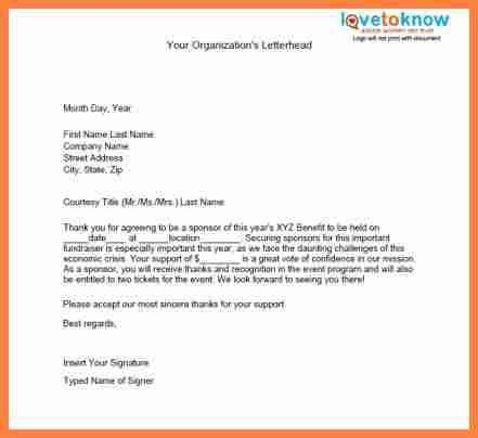 Sports Sponsorship Letter. Sample Of Sponsorship Proposal Donation ...