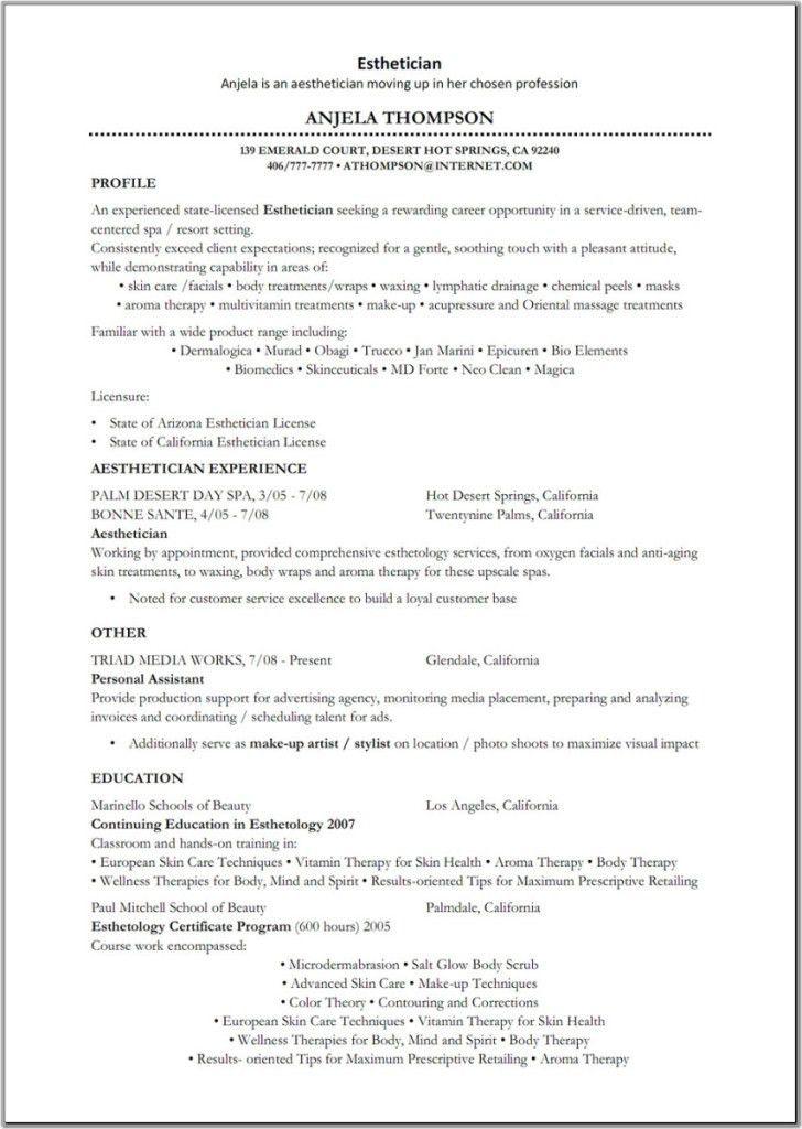 esthetician resume example unforgettable esthetician resume