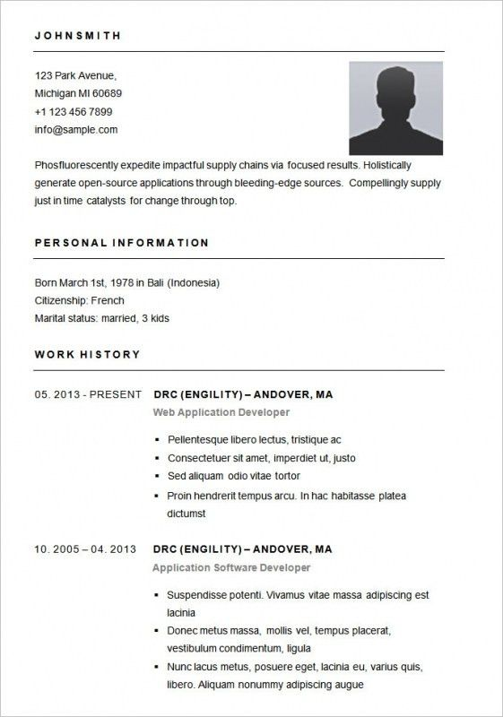 Free Basic Resume Templates Download – Resume Examples