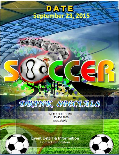 MS Word Soccer Event Flyer Template | Word & Excel Templates