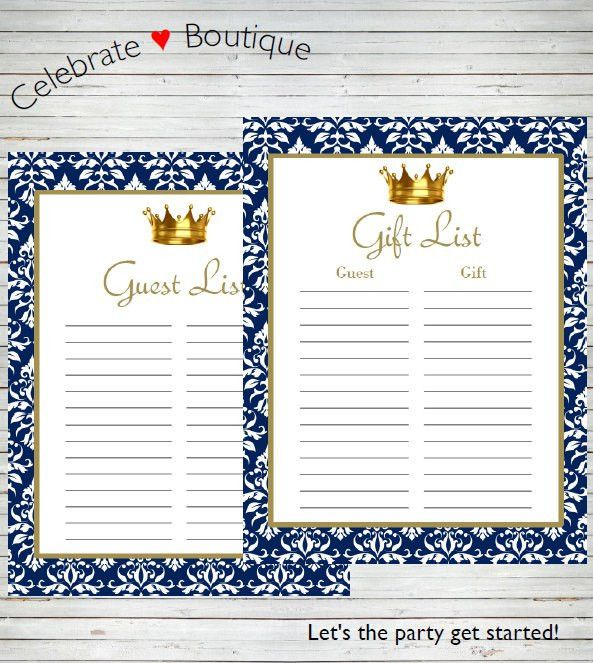 Royal Baby Shower / Royal Birthday Party Instant Download