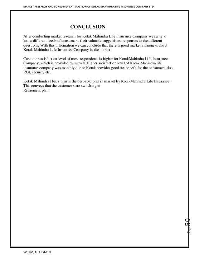 Kotak life insurance Project Report