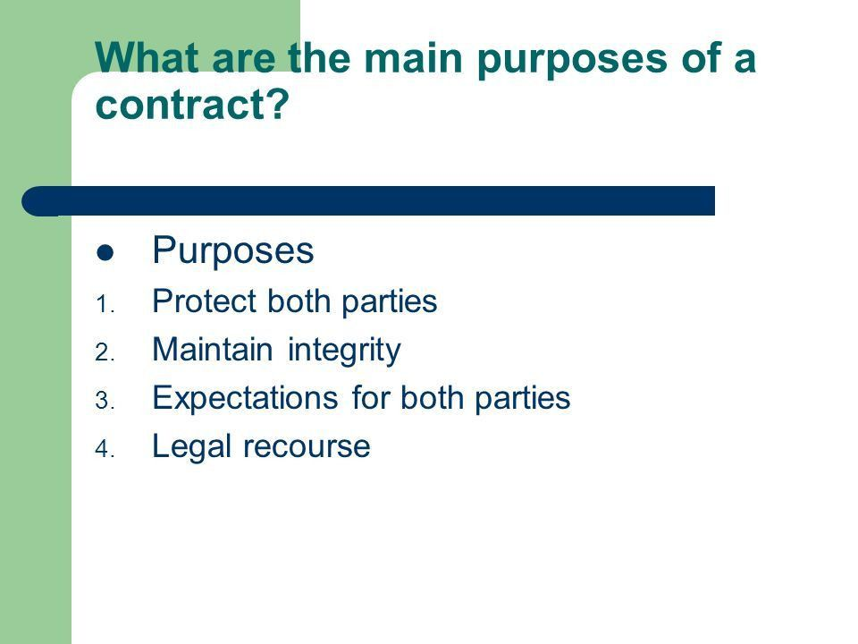 Becoming Familiar with Contracts What is the definition of a ...