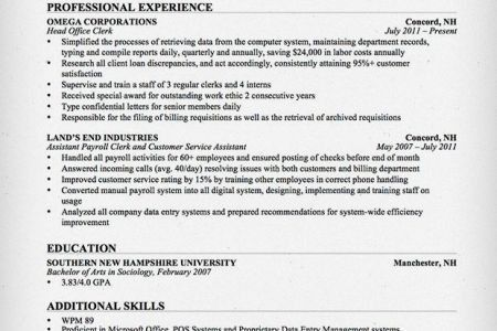 Sample Resume: Resume Clerical Assistant Cover Letter, Clerical ...