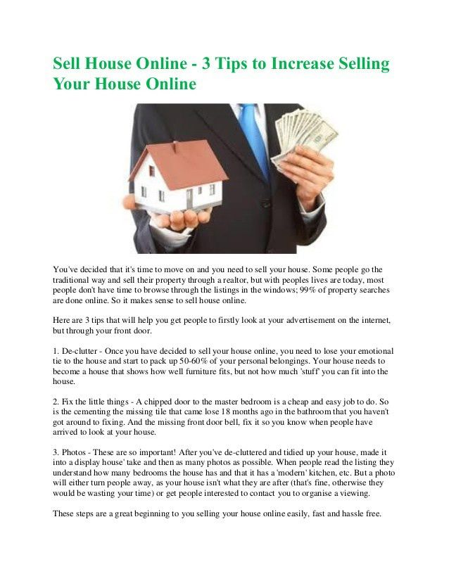 Selling your first house in usa tips to sell fast at highest price