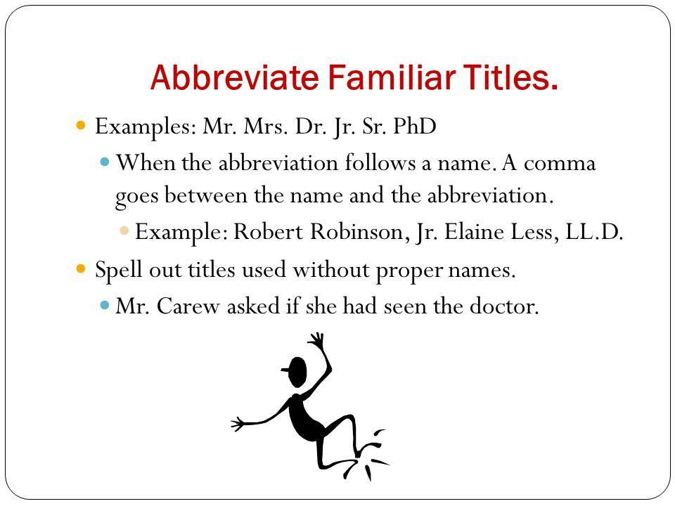 Pat Moran Michael Rengers Professor Green English Abbreviations ...