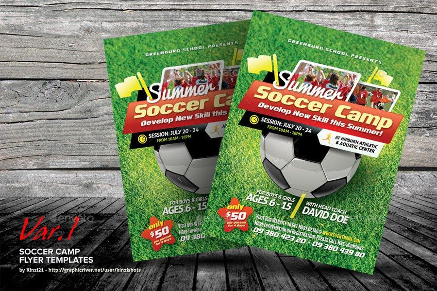 Soccer Camp Flyer Templates by kinzishots | GraphicRiver