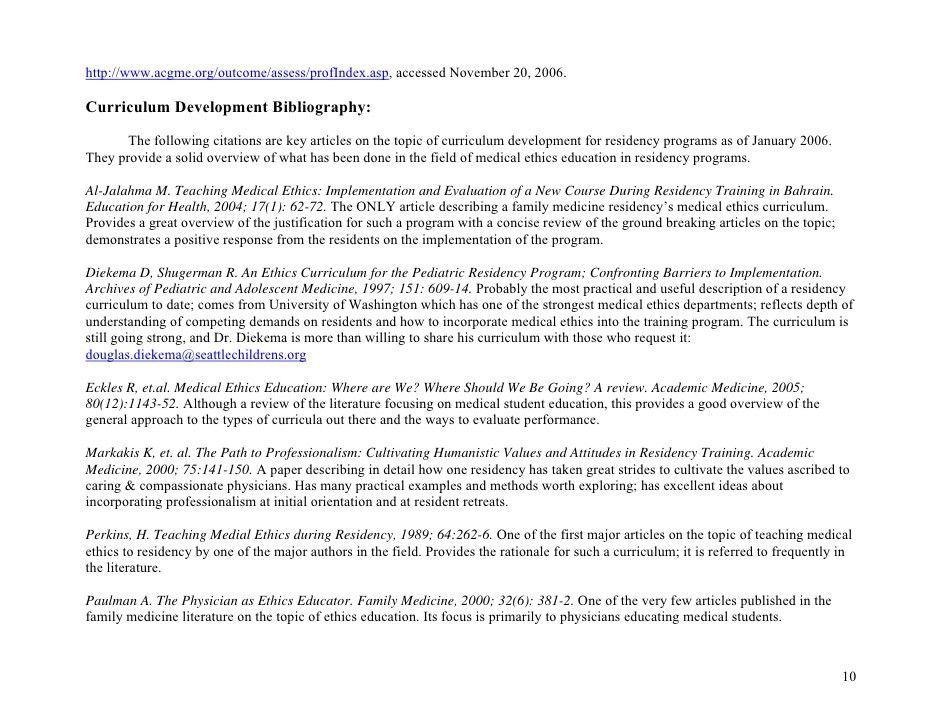 Medical Ethics Curriculum Final(20 Nov06)