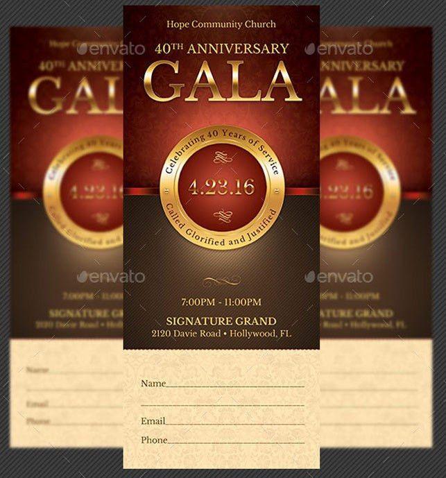 Church Anniversary Gala Ticket Template | Church Anniversary… | Flickr