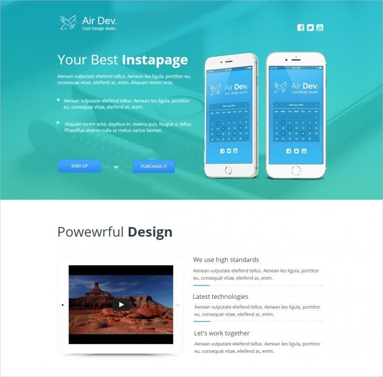 Dynamic Landing Page Templates & Themes   Free & Premium   Free ...