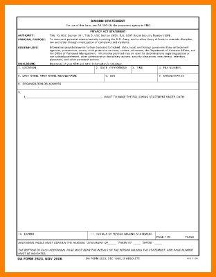 7+ 2823 sworn statement | inventory count sheet