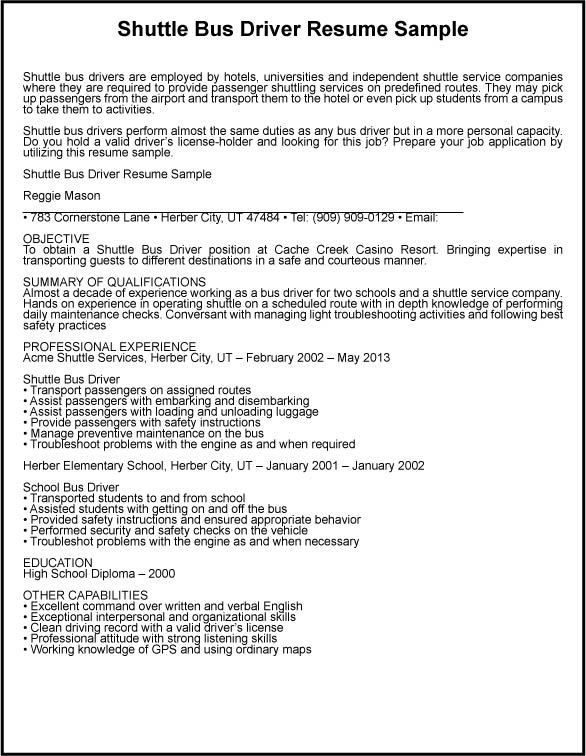 Bus Driver Resume | berathen.Com