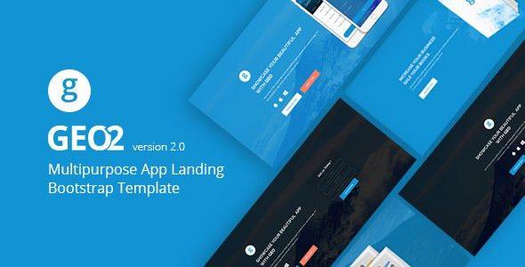GEO - Responsive Multipurpose Bootstrap 3 App Landing Page ...
