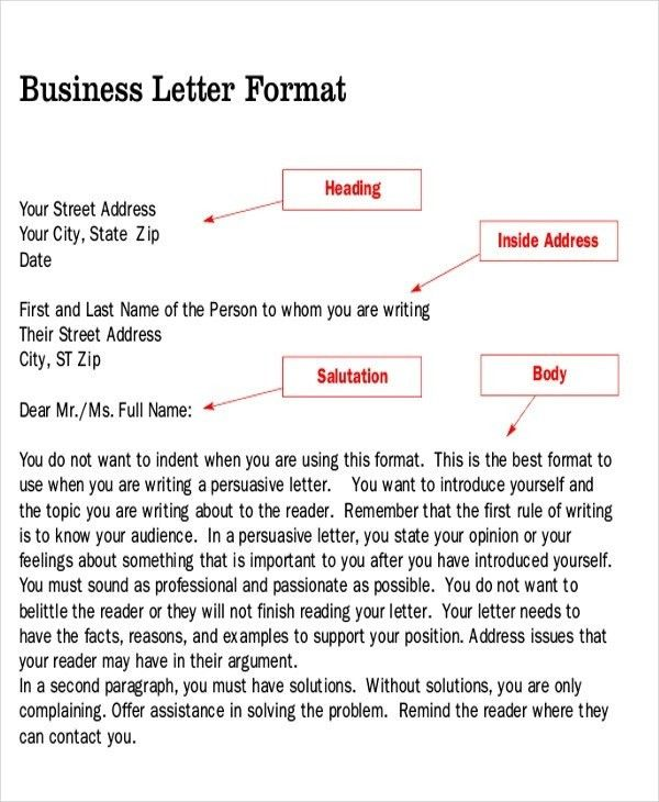 Persuasive Business Letter Sample | The Best Letter Sample
