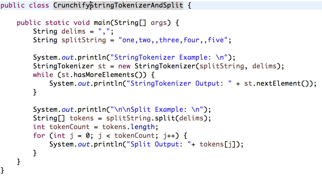 Java StringTokenizer and String Split Example + Split by New Line ...