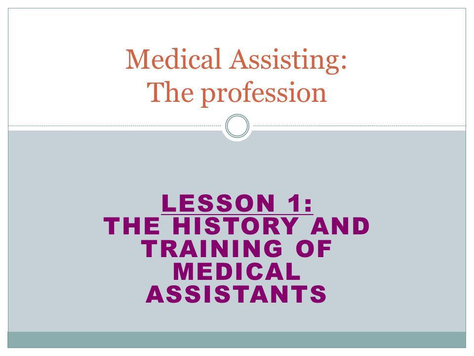 Medical Assisting: The profession - ppt download