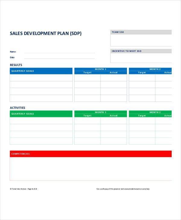Personal Sales Plan Templates - 5+ Free PDF Format Download ...