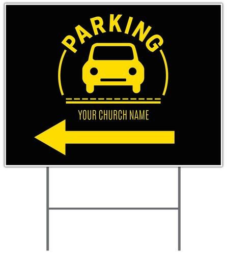 Parking Yellow Yard Sign - Church Banners - Outreach Marketing