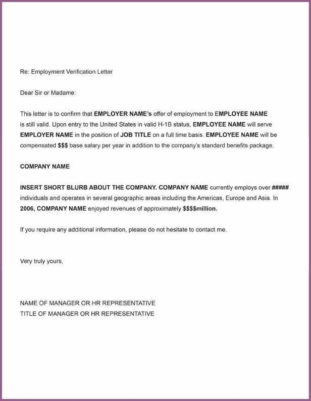 EMPLOYMENT VERIFICATION LETTER | designproposalexample.com