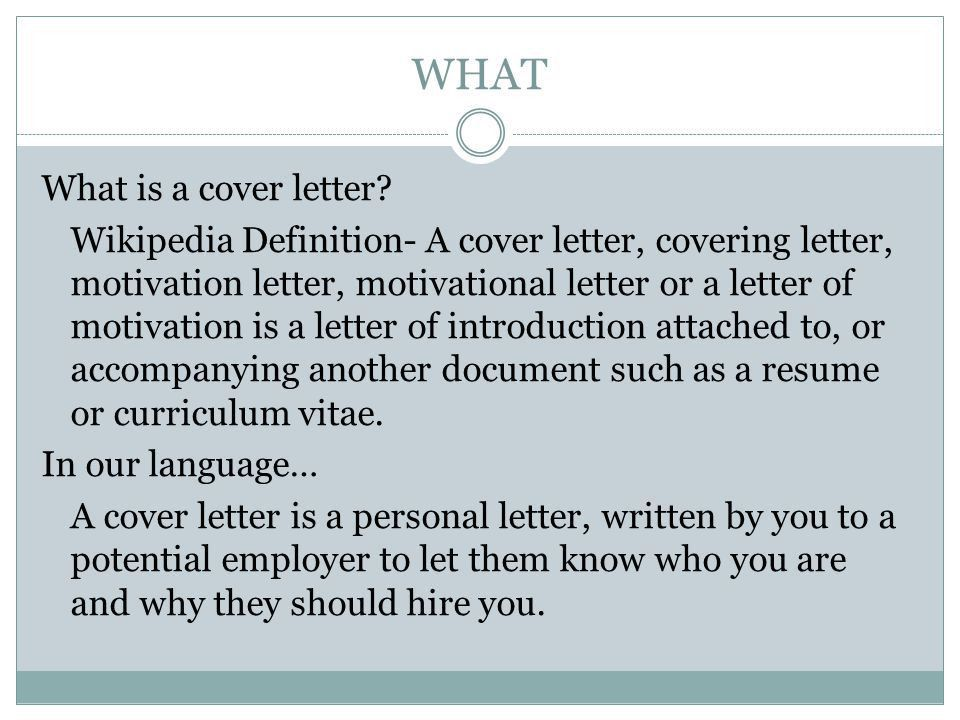 Projects Idea Of Definition Of Cover Letter 16 - CV Resume Ideas