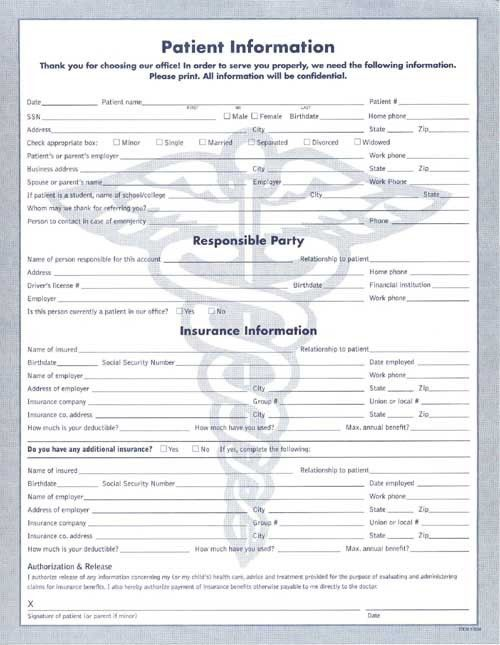 Blank Medical Forms, referral pad samples by specialty - medical ...