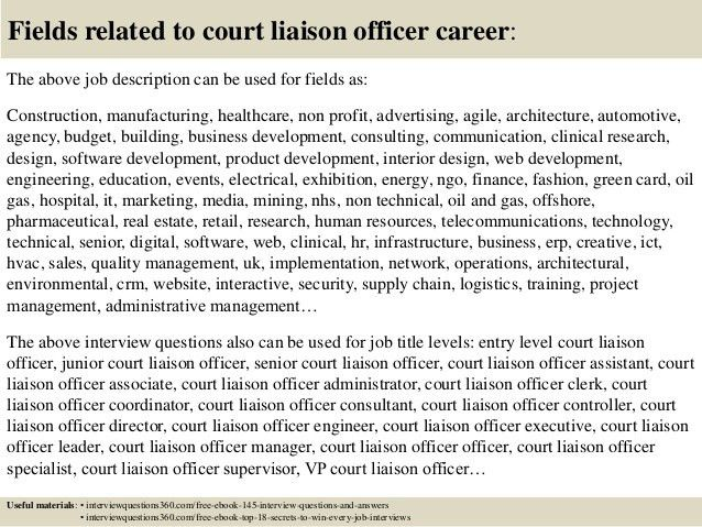 Top 10 court liaison officer interview questions and answers