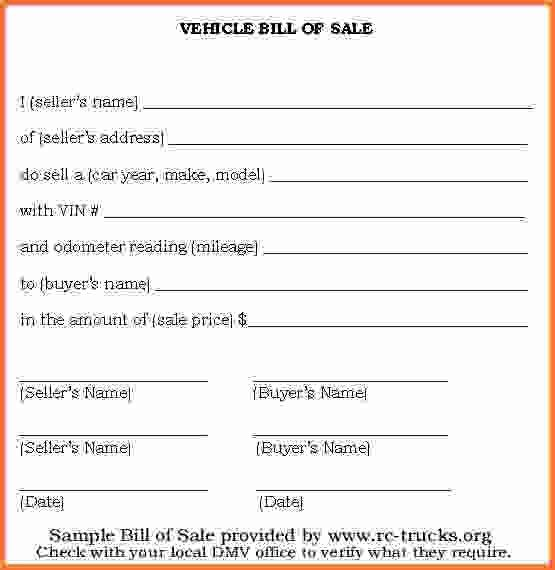 simple bill of sale for car - Sales Report Template