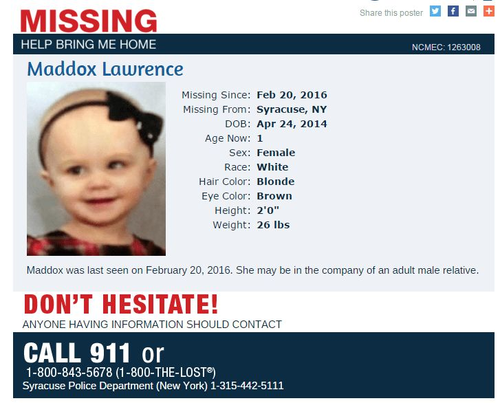 missingkids issues missing persons flyer for maddox lawrence ...