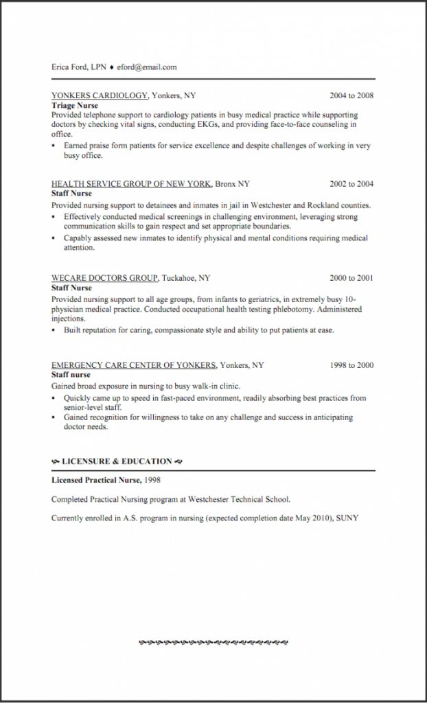 Pleasurable Inspiration Lpn Resume Examples 11 Lpn Resume Sample ...