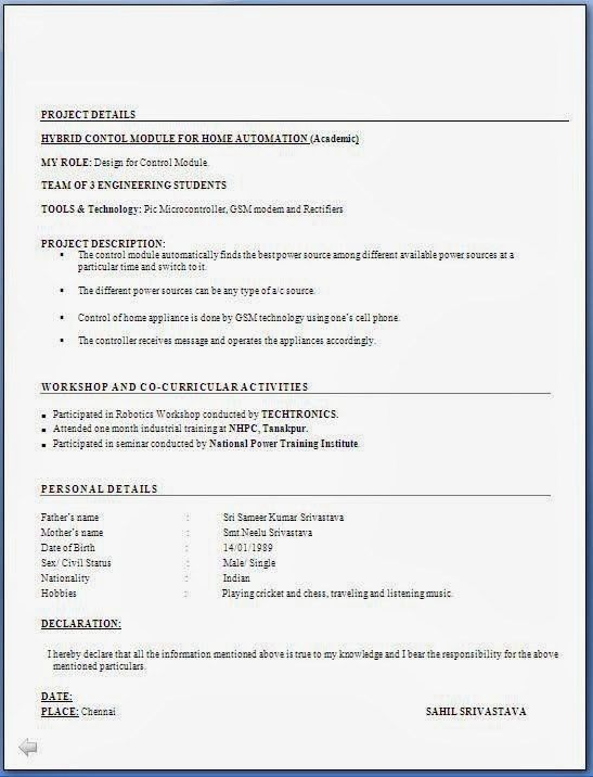 Resume Format For Freshers Download Doc. mba hr resume in doc. 5 ...