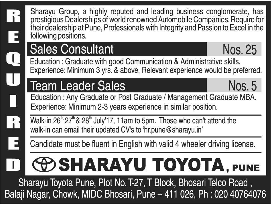 Job - Sales Consultant - Pune - Sales & Business Dev - TimesAscent.com