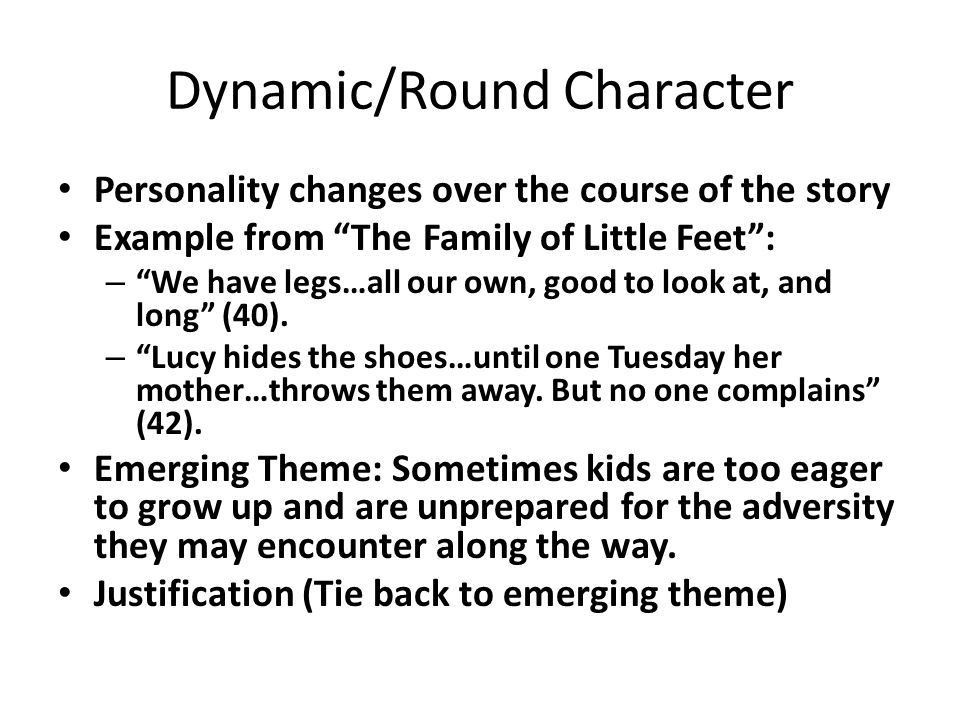 Characters and Conflict English II Mango. Static/Flat Characters ...