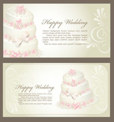 Set of Wedding Invitation cards design vector 04 - Vector Card ...