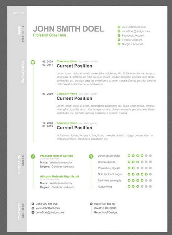 Download 35 Free Creative Resume Cv Templates Xdesigns Sample ...