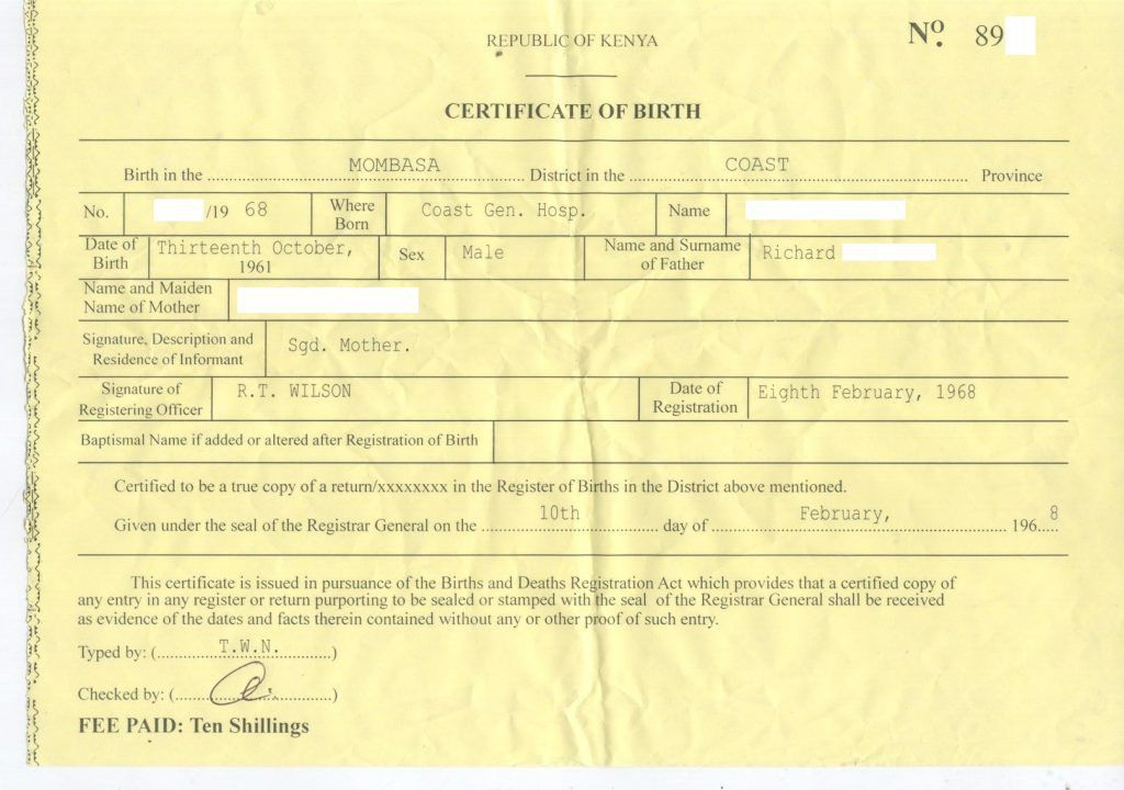 Baby Birth Certificate Template Packing List Format In Word 10 ...
