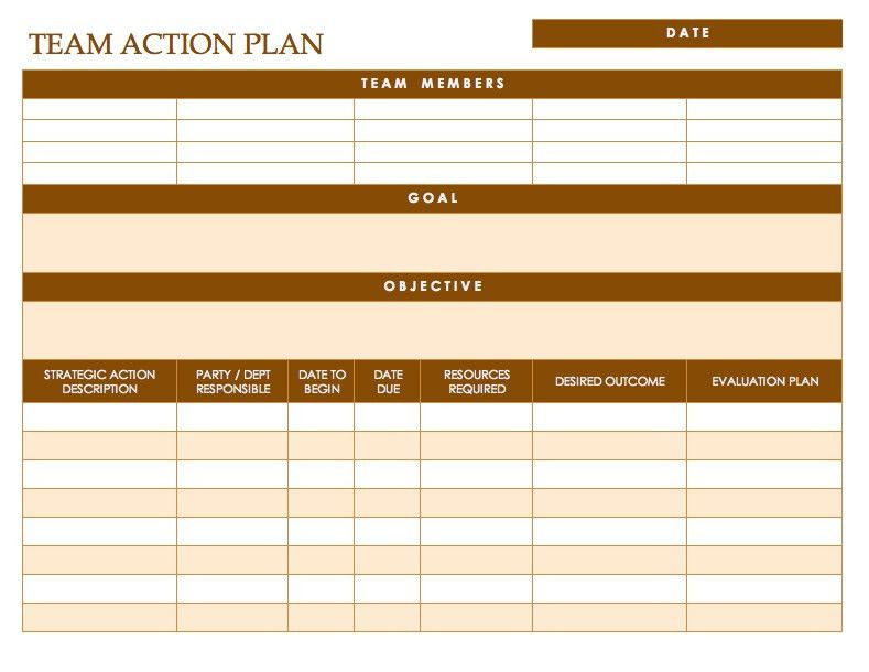 Free Action Plan Templates - Smartsheet