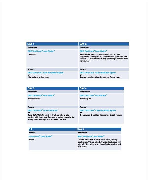 8+ Daily Meal Planner Templates - Free Sample, Example, Format ...