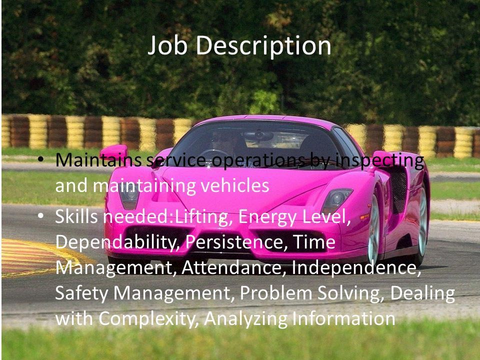 Mechanic Angel. Job Description Maintains service operations by ...