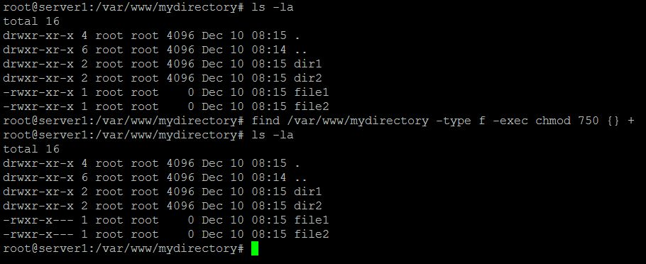 How to chmod files only on Linux